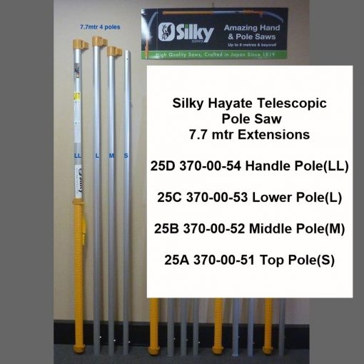 Silky Hayate 7.7mtr Telescopic Pole Saw Extensions