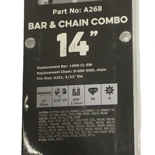 Archer 14inch Bar & Chain Combo Details