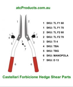 Castellari Forbicione Hedge Shear Parts