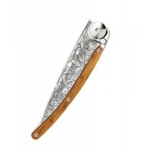 Deejo Art Nouveau Juniper Knife 27g Closed