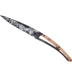 Deejo Tattoo Snake Knife - Black Juniper