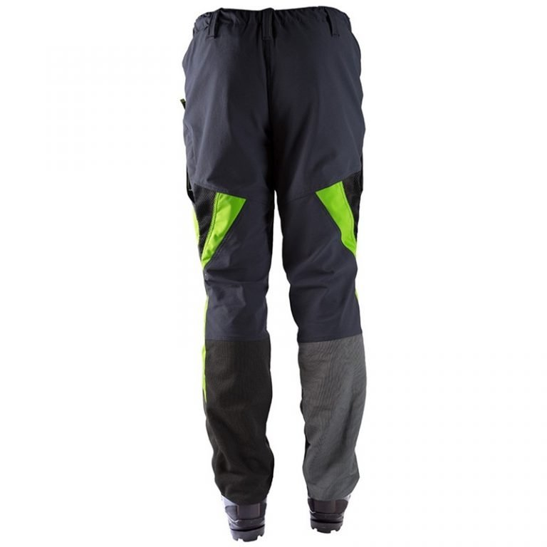 CLOGGER ZERO GEN2 MEN'S CHAINSAW TROUSERS - GREYGREEN Back
