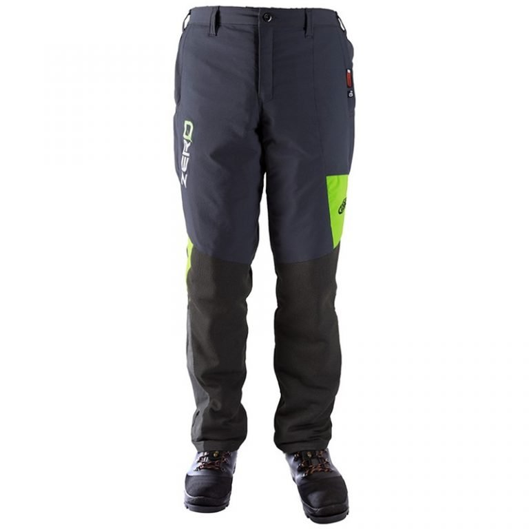 CLOGGER ZERO GEN2 MEN'S CHAINSAW TROUSERS - GREYGREEN Front