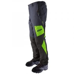 CLOGGER ZERO GEN2 MEN'S CHAINSAW TROUSERS - GREYGREEN LHS