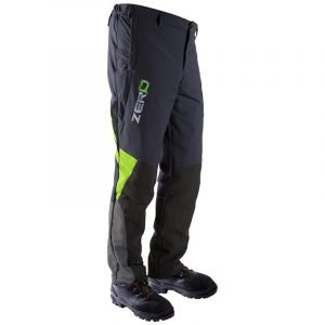 CLOGGER ZERO GEN2 MEN'S CHAINSAW TROUSERS - GREYGREEN RHS