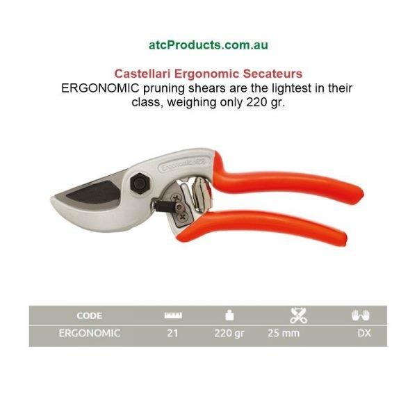 Castellari Ergonomic Secateurs From Italy