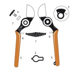 Castellari Taia Secateurs All Parts
