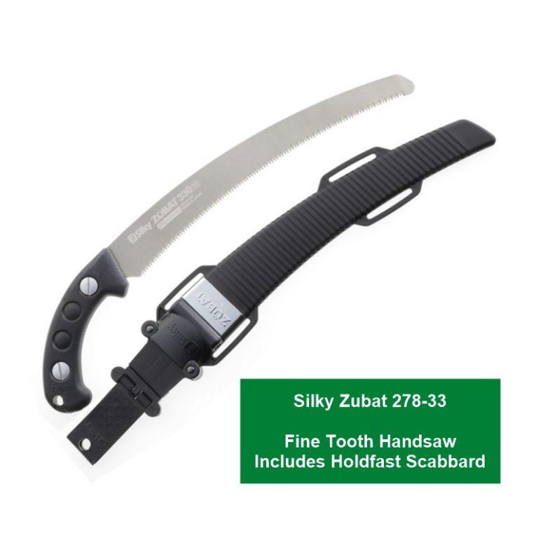 Silky Zubat 278-33 Fine Tooth Handsaw Includes Holdfast Scabbard