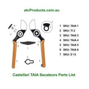 Castellari TAIA Secateurs Parts