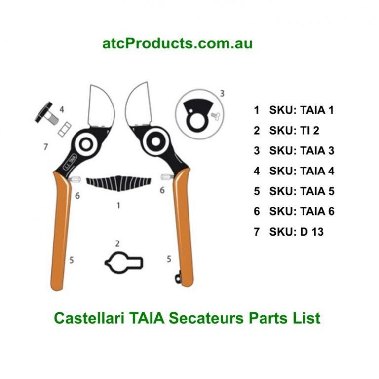 Castellari TAIA Secateurs Parts