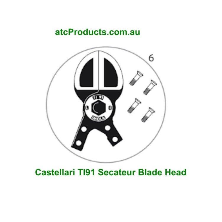 Castellari TI91 Secateur Blade Head and Screws