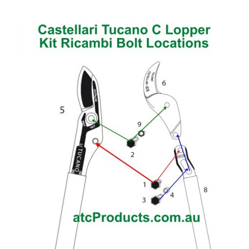 Castellari Tucano C Lopper Bolt Locations