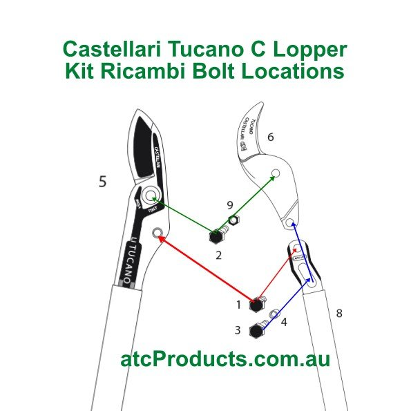 Castellari Tucano C Lopper Bolt Locations