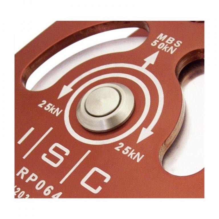 ISC Heavy Duty Prussik Pulley Aluminium Single 13mm