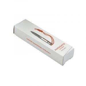Baladeo Pocket Knife Papagayo Skinny, Exotic Ash Packaging