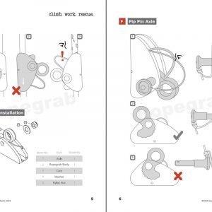 Stein Mini Rope Grab Bolt Pin and Axle setup