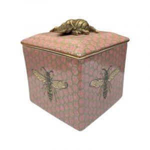 CAM Bee Pink Trinket Box Pink